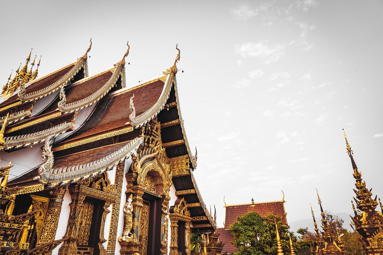 temple, thailand, chiang